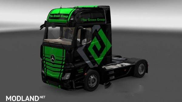 Mercedes Actros MP4 The Green Group Skin mod for ETS 2