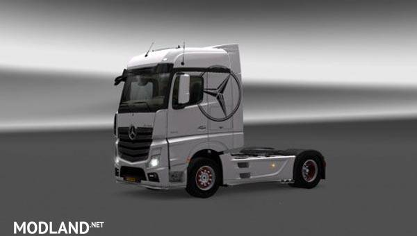 Mercedes Actros MP4 White Skin mod for ETS 2
