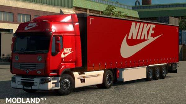 Nike Combo Pack Mod For Ets 2