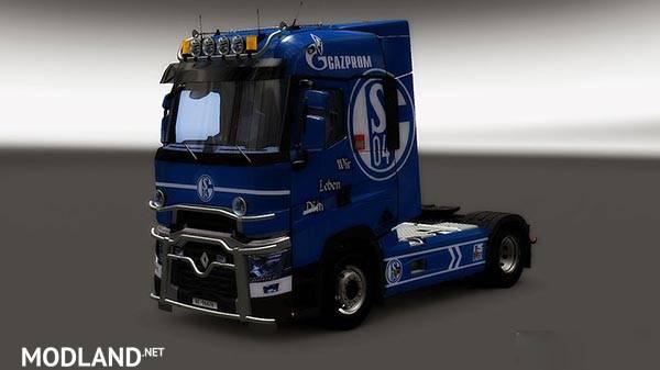 Net Direct Trucks >> Renault Range T RTA Schalke 04 Skin mod for ETS 2