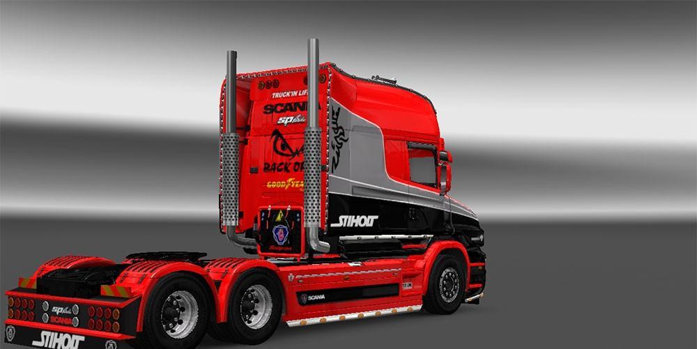 Rjl Scania T Exc Topline Skin Mod For Ets 2