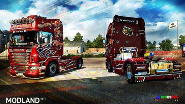scania red griffin skin mod for ets 2