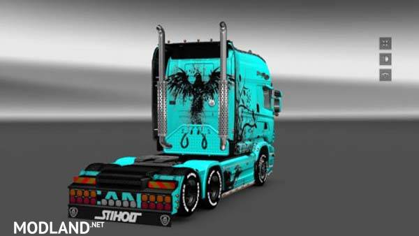 Scania Rjl Exc Longline Abstrakt Skin V 2 0 Mod For Ets 2