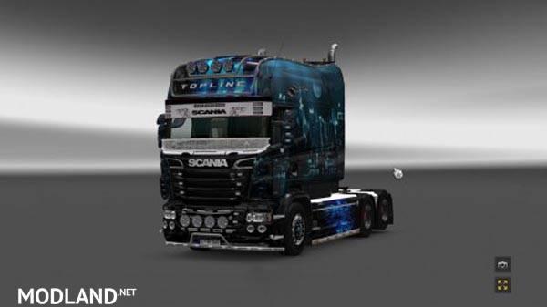 Net Direct Trucks >> Scania RS EXC Longline RJL Night City Skin mod for ETS 2