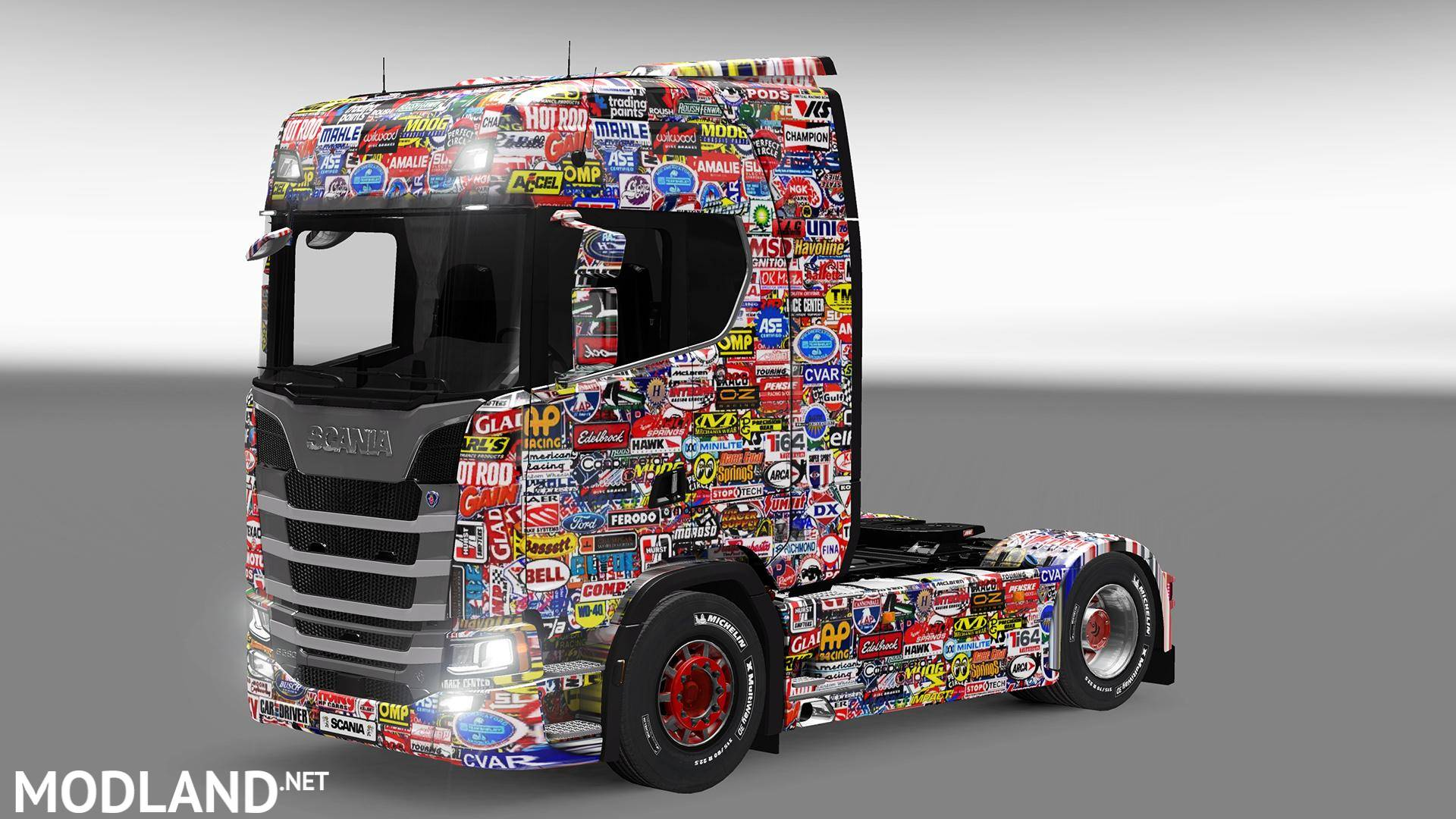 Scania s730 sticker bomb skin