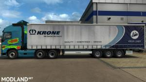 HQ paint job for long curtain trailers v1.11, 1 photo