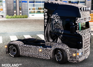 Tiger & Leopard skin for Scania RJL, 1 photo