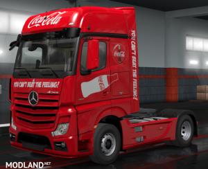 MERCEDES BENZ ACTROS 2014 MP4 Coca Cola SKIN MOD ✅1.35 ✅ - Direct Download image