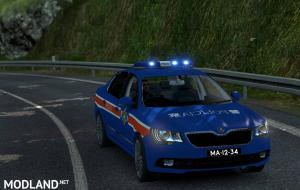 Macau Police Skin for Skoda Superb, 1 photo