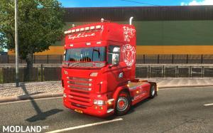 Scania RJL Red Vabis SKin, 1 photo