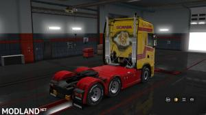 DHL Jimmie Karlsson skin for Scania S 2016 NG