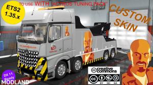 MB ACTROS MPIV CRANETRUCK CUSTOM SKIN1.35.x DX11 (WITH ACTROS TUNING PACK COMPATIBILITY), 1 photo