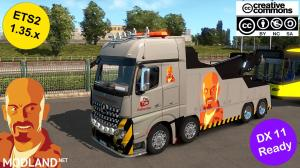 MB ACTROS MPIV CRANETRUCK CUSTOM SKIN1.35.x DX11 (WITH ACTROS TUNING PACK COMPATIBILITY), 2 photo