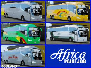 Africa Paintjob - PackSkins - Buses Morocco Irizar i6 - ETS2 [1.36] - External Download image
