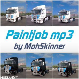 Mercedes MP3 Sample Blue Paintjob - ETS2 1.34.x, 1 photo