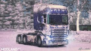Snow Skin for Scania RS(RJL) by ARADETH, 1 photo
