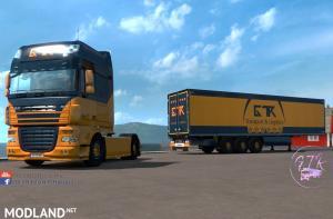 Skin Pack Transport & Logistics for DAF XF 105
