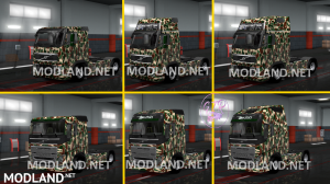 Combo Skin Military for all Truck and (Krone & Standard Trailers), 3 photo