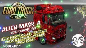 Alien Mask A Skin Pack for All Trucks, 1 photo