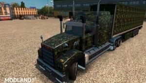 Army Camo skin for Mack Titan v8, 1 photo