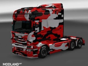 Black Camouflage Skin for RJL SCANIA R Multi, 1 photo