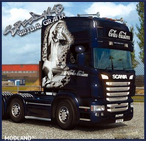 Coles Custom skin for RJL Scania, 1 photo
