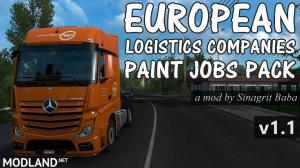 ETS 2 - European Logistics Companies Paint Jobs Pack v 1.1 - External Download image