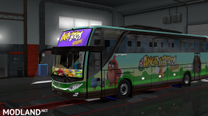 ANGRY BIRDS SEASONS SKIN FOR INDONESIA JETBUS 3 HDD BUS IN ETS2, 2 photo
