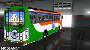 INDIAN SKINS FOR MARUTI BUS IN ETS2, 3 photo