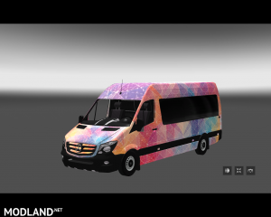 Mercedes Sprinter Long 2014 MiniBus Skin Pack, 3 photo