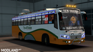 New Friends Indian bus Skin For Maruti Bus, 2 photo
