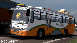 New Friends Indian bus Skin For Maruti Bus, 1 photo