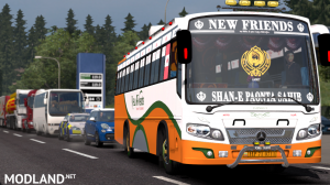 New Friends Indian bus Skin For Maruti Bus, 4 photo