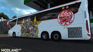 IRIZAR I8 -2 Skin WAC Wydad & RCA RAJA Teams Soccer - ETS2 1.34 or Higher, 1 photo