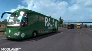 IRIZAR I8 -2 Skin WAC Wydad & RCA RAJA Teams Soccer - ETS2 1.34 or Higher, 4 photo