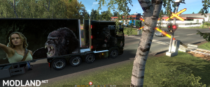 ETS2 - Scania R & Streamline painjob et trailer - King Kong