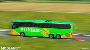 Flixbus Poland For ETS2 1.35.x - Bus Scania Touring, 1 photo