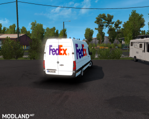 SKIN FEDEX –mercedes new sprinter – ETS2 1.35.X, 6 photo