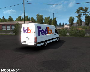 SKIN FEDEX –mercedes new sprinter – ETS2 1.35.X, 3 photo