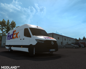 SKIN FEDEX –mercedes new sprinter – ETS2 1.35.X, 2 photo