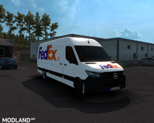 SKIN FEDEX –mercedes new sprinter – ETS2 1.35.X, 7 photo