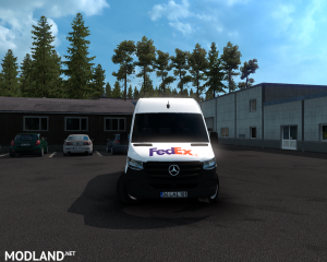SKIN FEDEX –mercedes new sprinter – ETS2 1.35.X, 8 photo