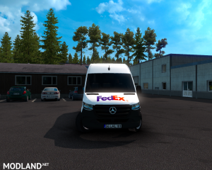 SKIN FEDEX –mercedes new sprinter – ETS2 1.35.X, 9 photo
