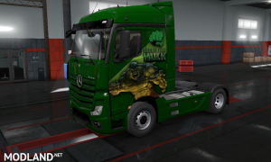 THE INCREDIBLE HULK SKIN MOD  FOR Mercedes Actros 2014  BY HISHAM ABED DZ, 2 photo