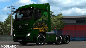 THE INCREDIBLE HULK SKIN MOD  FOR Mercedes Actros 2014  BY HISHAM ABED DZ, 1 photo