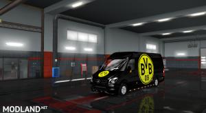 Mercedes sprinter 2015 Borussia Dortmund skin, 1 photo