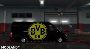Mercedes sprinter 2015 Borussia Dortmund skin, 2 photo