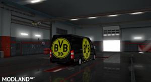 Mercedes sprinter 2015 Borussia Dortmund skin, 5 photo
