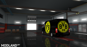 Mercedes sprinter 2015 Borussia Dortmund skin, 4 photo