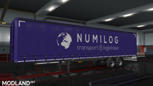 Numilog Logistics Trailer Skin ETS 2 1.37 1.38